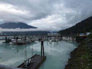 2. looking over the marina towards Bella Coola (The Bella Coola Ferry)