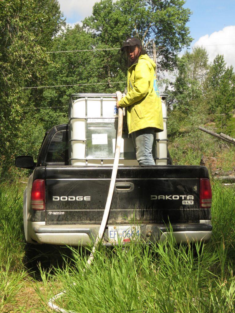 filling mobile tank