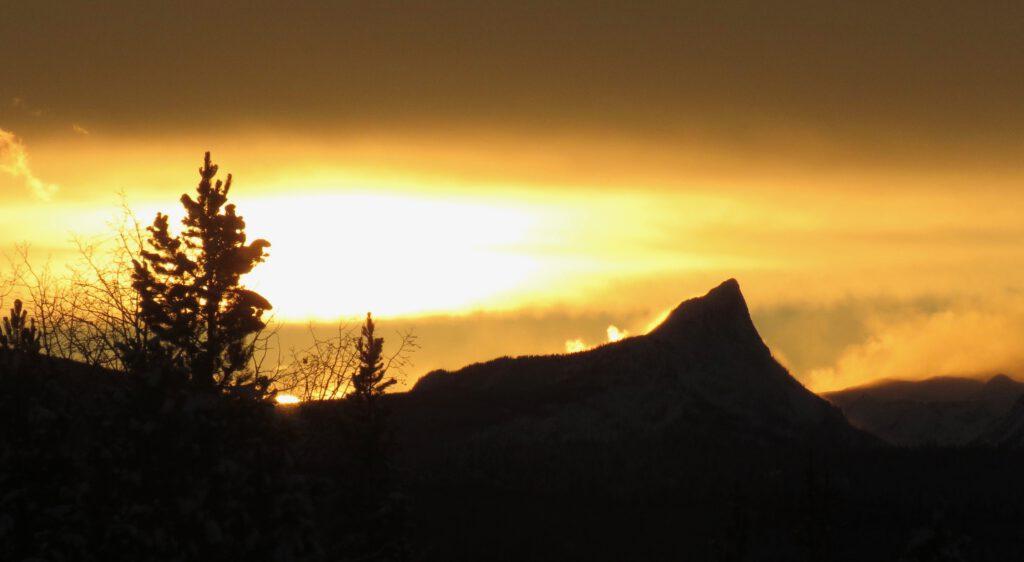 moving sunset